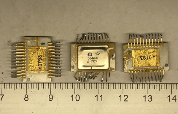 Микросхема 564 желтое дно 24 ноги б\у