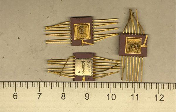 Микросхема 514 желтое дно 16 ног новая