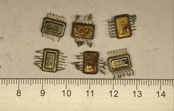Микросхема 133 с одной подложкой 14 ног Б/У