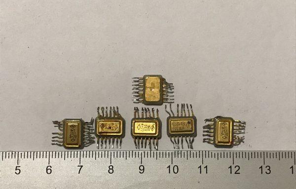 Микросхема двухсторонка дно и крышка  14 ног Б/У